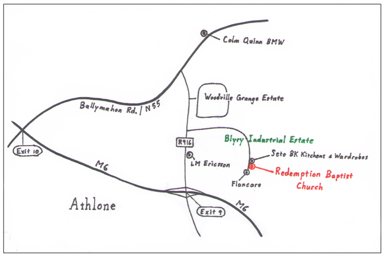 Map to Church